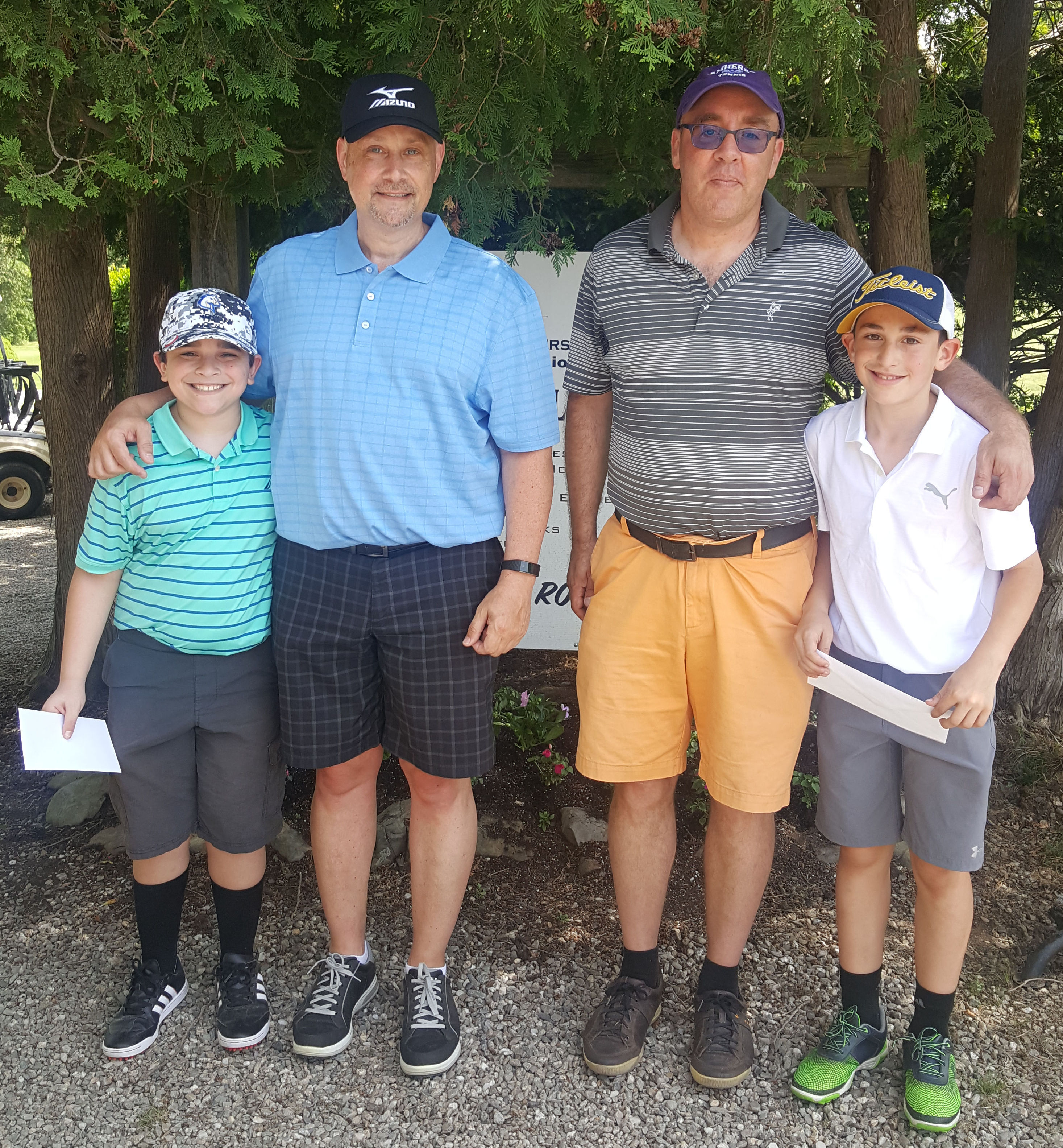 May 2018 Parent/Child Tournament 1st and 2nd Place